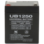 UPG Sealed Lead Acid AGM: UB1250, 5 AH, 12V, F1