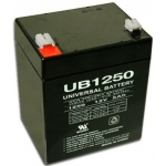 UPG Sealed Lead Acid AGM: UB1250, 5 AH, 12V, F2