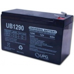 UPG Sealed Lead Acid AGM: UB1290F2, 9 AH, 12V