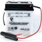 UPG Adventure Power Lead-Acid Conventional: 6N5.5-1D, 5.5 AH, 6V