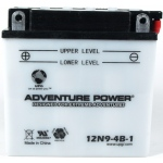 UPG Adventure Power Lead-Acid Conventional: 12N9-4B-1, 9 AH, 12V