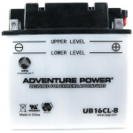 UPG Adventure Power Lead-Acid Conventional: UB16CL-B, 19 AH, 12V