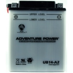 UPG Adventure Power Lead-Acid Conventional: UB14-A2, 14 AH, 12V