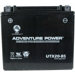 UPG Adventure Power Sealed Lead Acid Dry Charge AGM: UTX20-BS, 18 AH, 12V